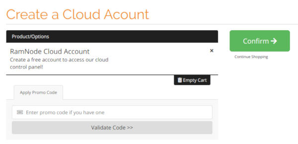 Create a RamNode Cloud Account